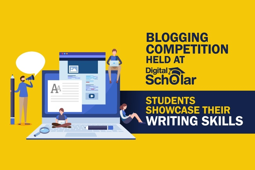 Blogging Competition Held at Digital Scholar: Students Showcase their Writing Skills