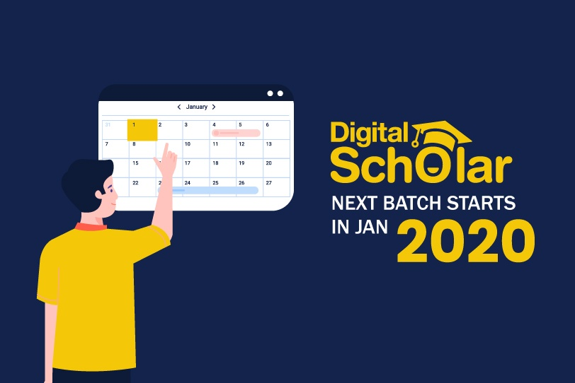 Digital Scholar's Next Batch Starts On Jan 2020