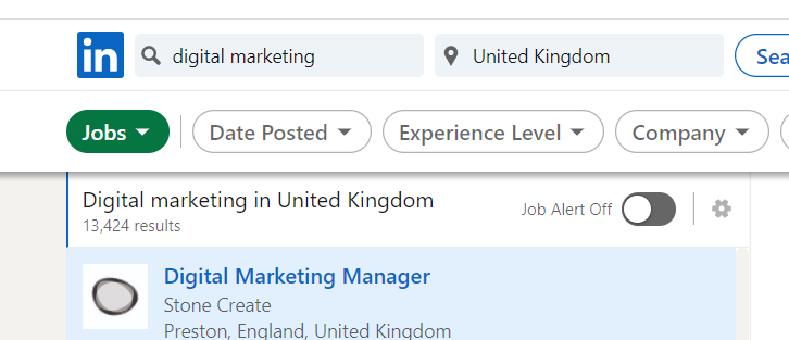 Digital Marketing Job Demand in UK